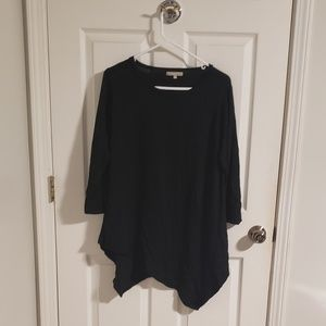 Black Asymmetrical Hem Sweater